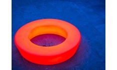 Loop Ø180 LED bænk i orange